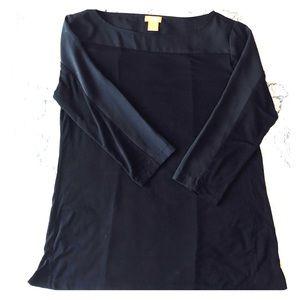 Joe Fresh 3/4 Black Shirt